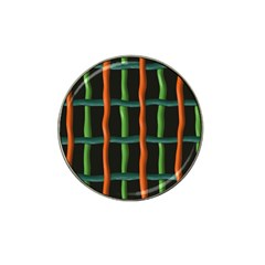 Orange Green Wires Hat Clip Ball Marker (10 Pack) by LalyLauraFLM