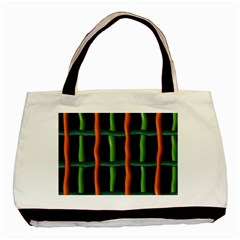 Orange Green Wires Basic Tote Bag by LalyLauraFLM
