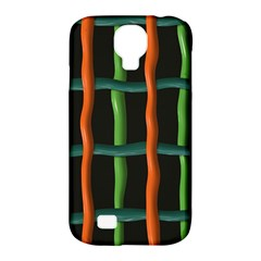 Orange Green Wires Samsung Galaxy S4 Classic Hardshell Case (pc+silicone) by LalyLauraFLM