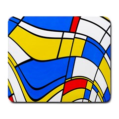Colorful Distorted Shapes Large Mousepad by LalyLauraFLM
