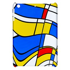 Colorful Distorted Shapes Apple Ipad Mini Hardshell Case by LalyLauraFLM