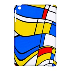 Colorful distorted shapes Apple iPad Mini Hardshell Case (Compatible with Smart Cover) by LalyLauraFLM