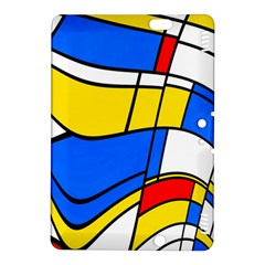 Colorful Distorted Shapes	kindle Fire Hdx 8 9  Hardshell Case by LalyLauraFLM