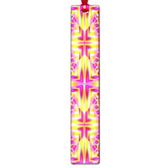 Pink And Yellow Rave Pattern Large Bookmark by KirstenStar