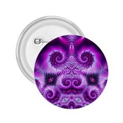 Purple Ecstasy Fractal 2 25  Button by KirstenStar
