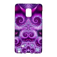 Purple Ecstasy Fractal Samsung Galaxy Note Edge Hardshell Case by KirstenStar