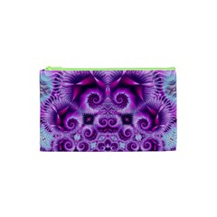 Purple Ecstasy Fractal Cosmetic Bag (xs) by KirstenStar