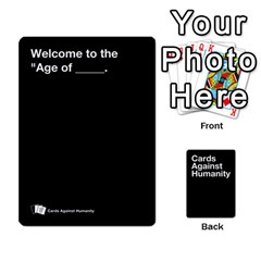 Spasmicpuppy Cards Against Humanity Black Deck By Spasmicpuppy   Playing Cards 54 Designs   Wxwa7ywdoe22   Www Artscow Com Front - Diamond5