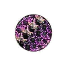 Hippy Fractal Spiral Stacks Golf Ball Marker (for Hat Clip) by KirstenStar