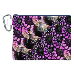 Hippy Fractal Spiral Stacks Canvas Cosmetic Bag (xxl) by KirstenStar