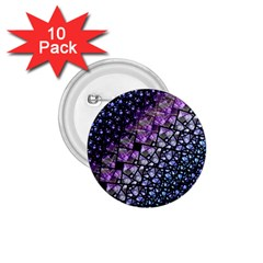 Dusk Blue And Purple Fractal 1 75  Button (10 Pack) by KirstenStar