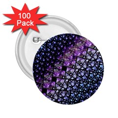 Dusk Blue And Purple Fractal 2 25  Button (100 Pack) by KirstenStar