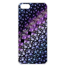 Dusk Blue And Purple Fractal Apple Iphone 5 Seamless Case (white) by KirstenStar