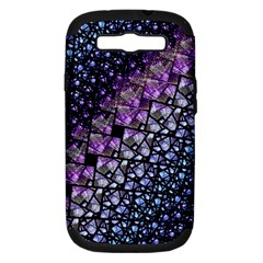 Dusk Blue And Purple Fractal Samsung Galaxy S Iii Hardshell Case (pc+silicone)
