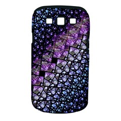 Dusk Blue and Purple Fractal Samsung Galaxy S III Classic Hardshell Case (PC+Silicone) by KirstenStar