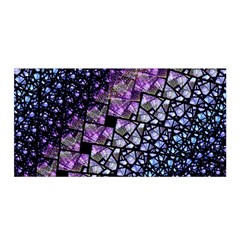 Dusk Blue and Purple Fractal Satin Wrap by KirstenStar