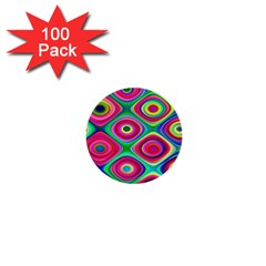 Psychedelic Checker Board 1  Mini Button (100 Pack) by KirstenStar