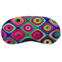 Psychedelic Checker Board Sleeping Mask by KirstenStar