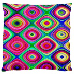 Psychedelic Checker Board Standard Flano Cushion Case (one Side) by KirstenStar