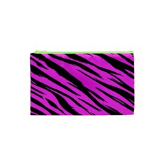 Pink Tiger Cosmetic Bag (xs) by ArtistRoseanneJones