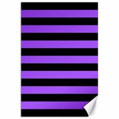 Purple Stripes Canvas 24  x 36  (Unframed) by ArtistRoseanneJones