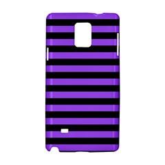 Purple Stripes Samsung Galaxy Note 4 Hardshell Case by ArtistRoseanneJones