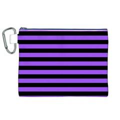 Purple Stripes Canvas Cosmetic Bag (xl) by ArtistRoseanneJones