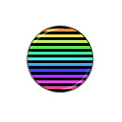 Rainbow Stripes Golf Ball Marker 10 Pack (for Hat Clip)