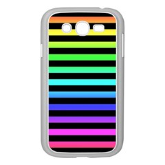 Rainbow Stripes Samsung Galaxy Grand Duos I9082 Case (white) by ArtistRoseanneJones
