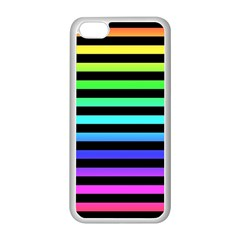 Rainbow Stripes Apple Iphone 5c Seamless Case (white) by ArtistRoseanneJones