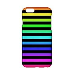 Rainbow Stripes Apple Iphone 6 Hardshell Case by ArtistRoseanneJones