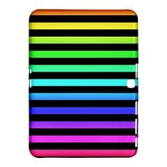 Rainbow Stripes Samsung Galaxy Tab 4 (10 1 ) Hardshell Case  by ArtistRoseanneJones