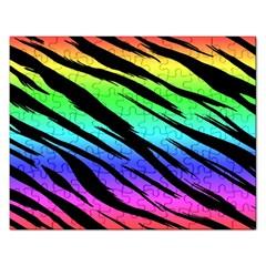 Rainbow Tiger Jigsaw Puzzle (rectangle) by ArtistRoseanneJones