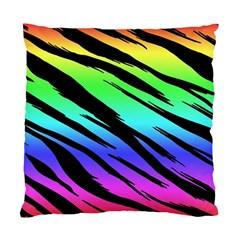 Rainbow Tiger Cushion Case (single Sided)  by ArtistRoseanneJones