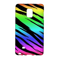 Rainbow Tiger Samsung Galaxy Note Edge Hardshell Case by ArtistRoseanneJones