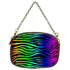 Rainbow Zebra Chain Purse (One Side) by ArtistRoseanneJones