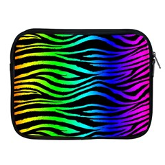 Rainbow Zebra Apple Ipad Zippered Sleeve by ArtistRoseanneJones