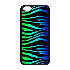 Rainbow Zebra Apple Iphone 5c Seamless Case (black) by ArtistRoseanneJones