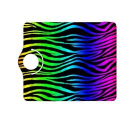 Rainbow Zebra Kindle Fire Hdx 8 9  Flip 360 Case by ArtistRoseanneJones