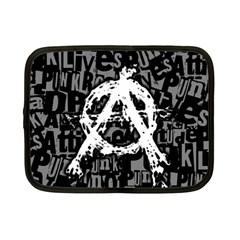 Anarchy Netbook Sleeve (small) by ArtistRoseanneJones