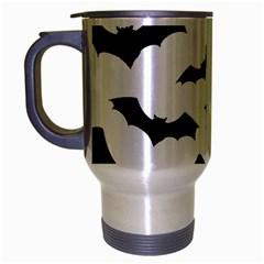 Deathrock Bats Travel Mug (silver Gray) by ArtistRoseanneJones
