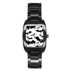Deathrock Bats Stainless Steel Barrel Watch by ArtistRoseanneJones