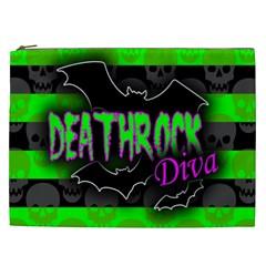 Deathrock Diva Cosmetic Bag (xxl) by ArtistRoseanneJones