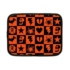 Goth Punk Checkers Netbook Sleeve (small) by ArtistRoseanneJones