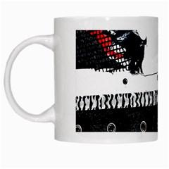 Punk Chick White Coffee Mug by ArtistRoseanneJones