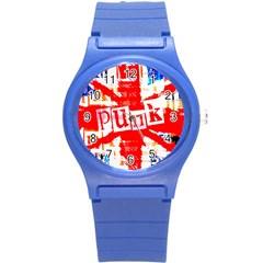 Punk Union Jack Plastic Sport Watch (small) by ArtistRoseanneJones