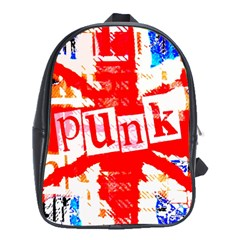 Punk Union Jack School Bag (xl) by ArtistRoseanneJones