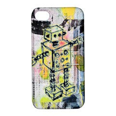 Graffiti Graphic Robot Apple iPhone 4/4S Hardshell Case with Stand by ArtistRoseanneJones