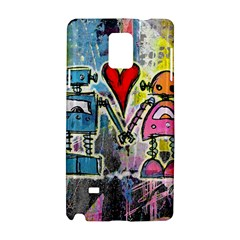 Graffiti Pop Robot Love Samsung Galaxy Note 4 Hardshell Case by ArtistRoseanneJones