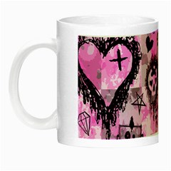 Pink Scene Kid Sketches Glow in the Dark Mug by ArtistRoseanneJones